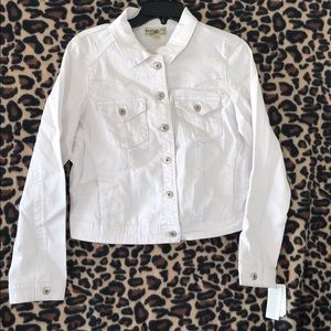White 5 Button Jacket